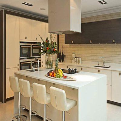 Cozinha em Quartzo Branco